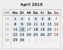 screenshot �menucalendarclock ical�, april 2019