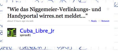"""""""Wie das Niggemeier-Verlinkungs- und Handyportal wirres.net meldet..."""""""