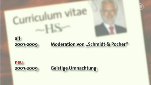 2007-2009 moderation von �schmidt und pocher�, 2007-2009 geistige umnachtung