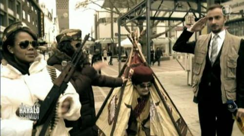 muammar el gaddafi in der fussg�ngerzone