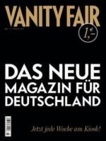 cover der vanity fair deutschland, ausgabe 1