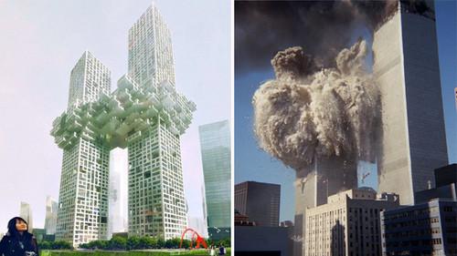 MVRDV wolkendurchstosser und die zusammenst�rzenden twin towers