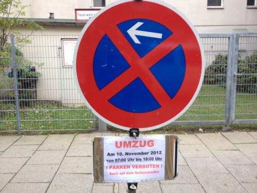 das erste eigene parkverbot