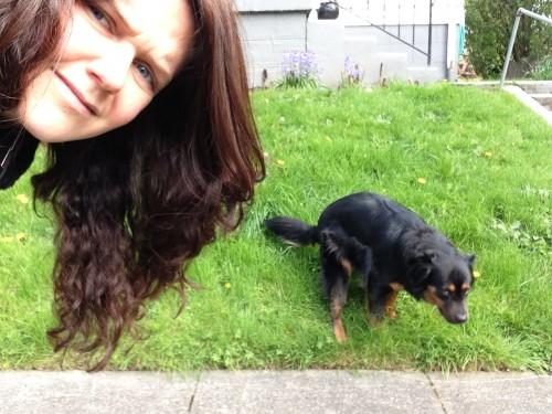 selbstportraits mit scheissenden hunden
