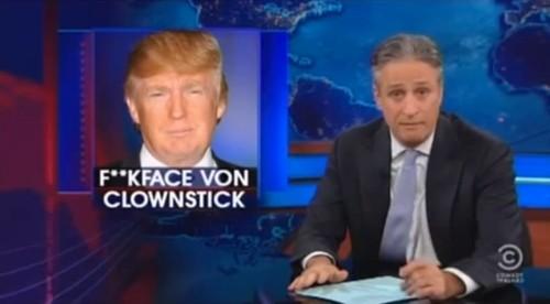 jon stewart nennt donald trump fuckface von clownstick