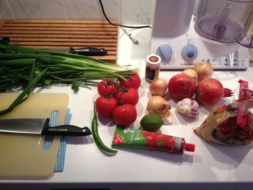 zutaten f�r den t�rkischen bulgur-salat nach ottolenghi
