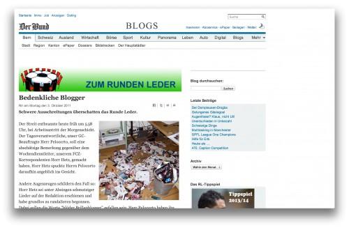 """screenshot vom fussballblog """"zum runden leder"""" von """"der bund"""""""