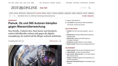 """""""560 Autoren wehren sich gegen Massen�berwachung"""""""