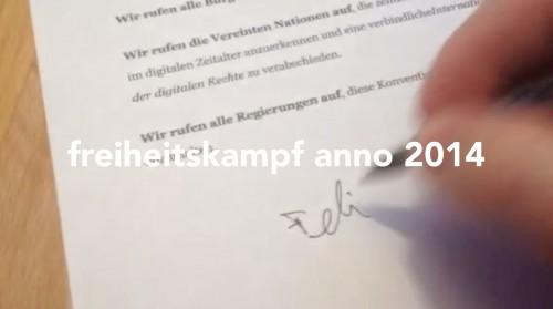 freiheitskampf anno 2014