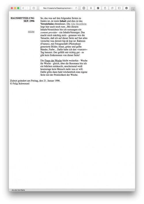 1996 erstellte kommentierte linksammlung