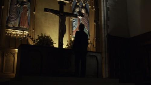 frank underwood sieht jesus an
