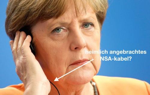 merkel beim telefonieren mit einem h�rger�t