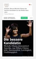 "Name: ""Die bessere Kandidatin: Michelle Obama demonstriert Amerika, was Hillary Clinton fehlt"""