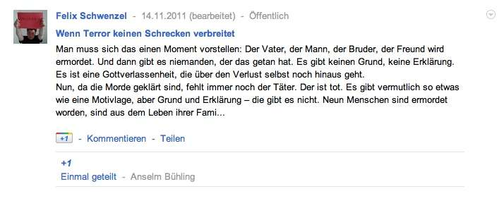 artikel, geshared mit dem reader share-button