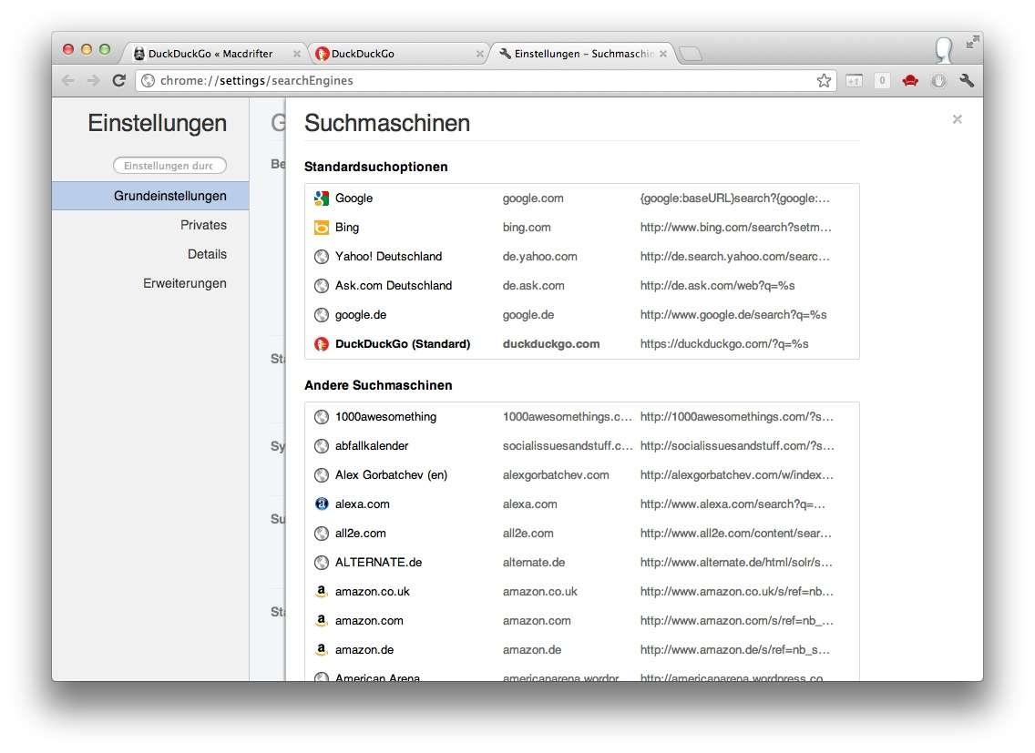 Duckduckgo for Minimalismus liste