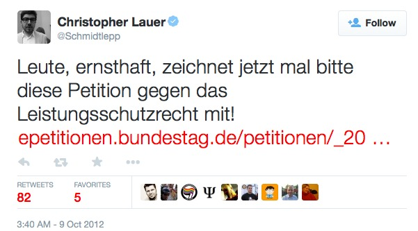 christopher lauer 2012 zum lsr (twitter screenshot)