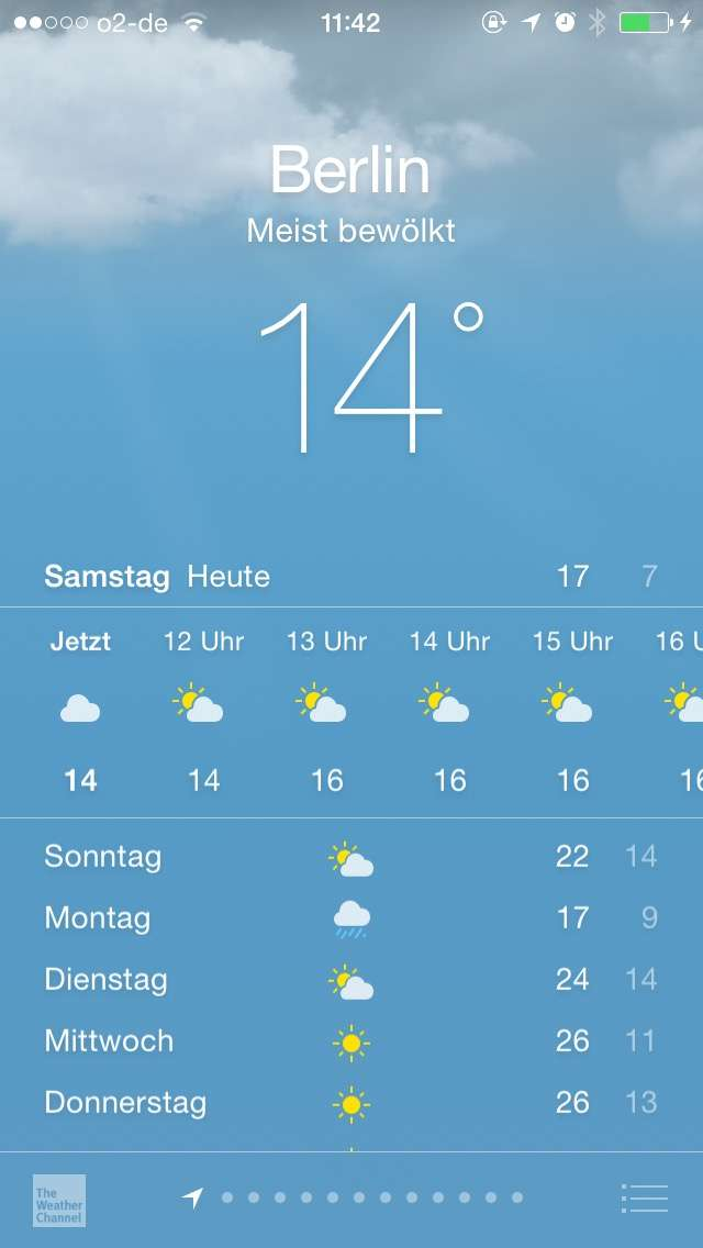 wetter widget vom iphone