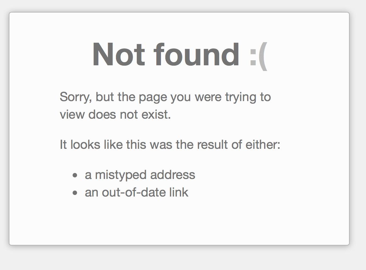 einstellungen nicht gefunden: 404